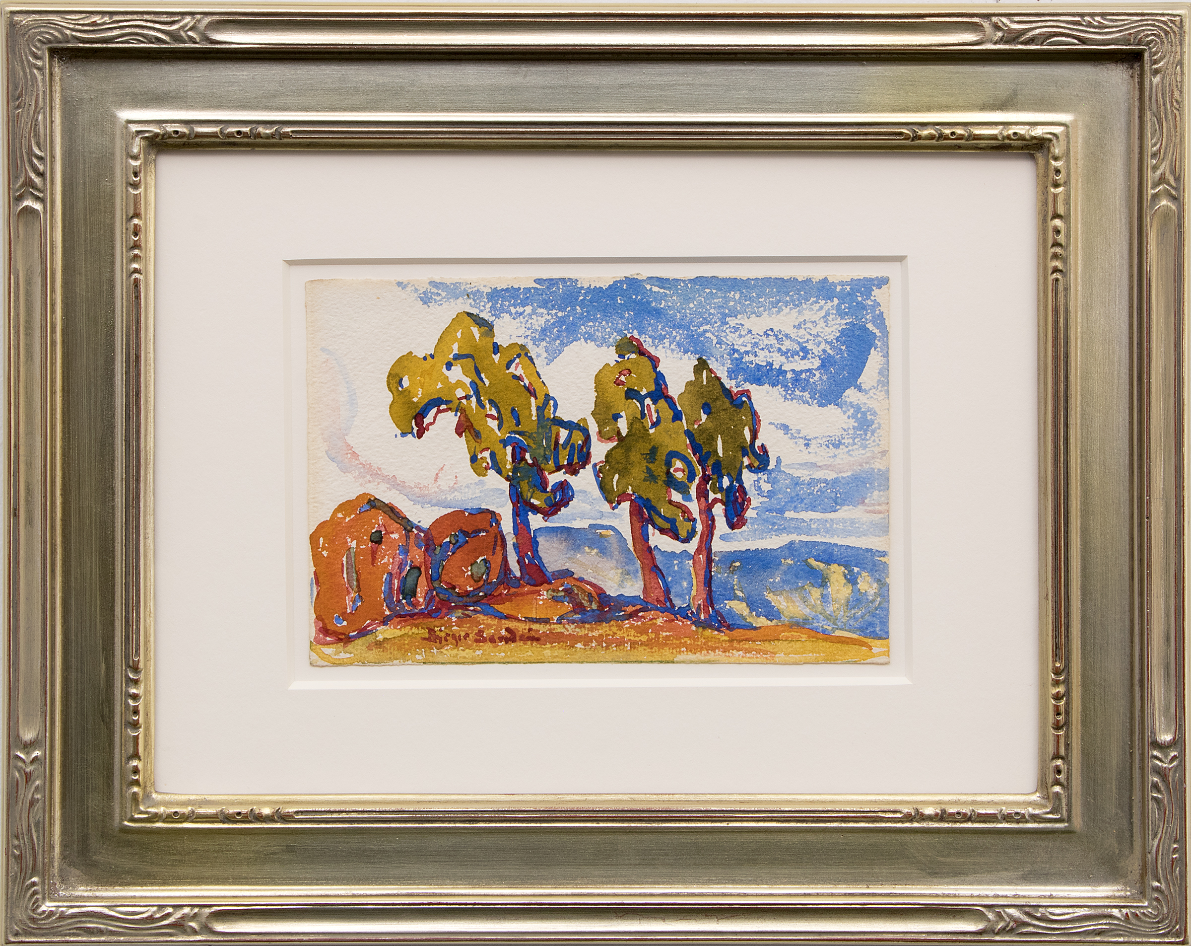 Untitled (Colorado Landscape with Red Rocks and Trees)