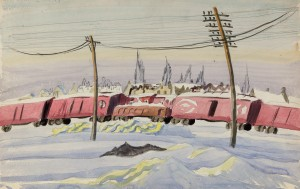 Burchfield-(Untitled) The Freight Train