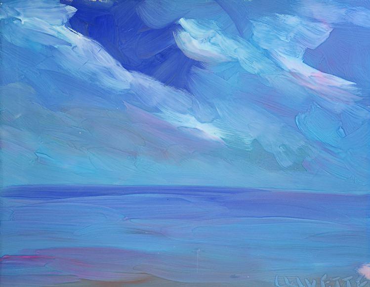 Serene Sea and Clouds