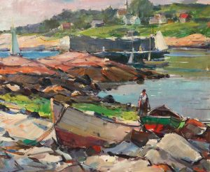 Peters, Carl-Sailboats at the Breakwall-cropped