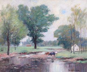 Davisson-Cows By the Stream-cropped
