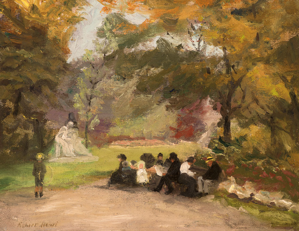 Figures in the Luxembourg Gardens