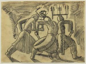 Lumpkins-William---Study-for-mescalero-indian-dance-1930-unframed
