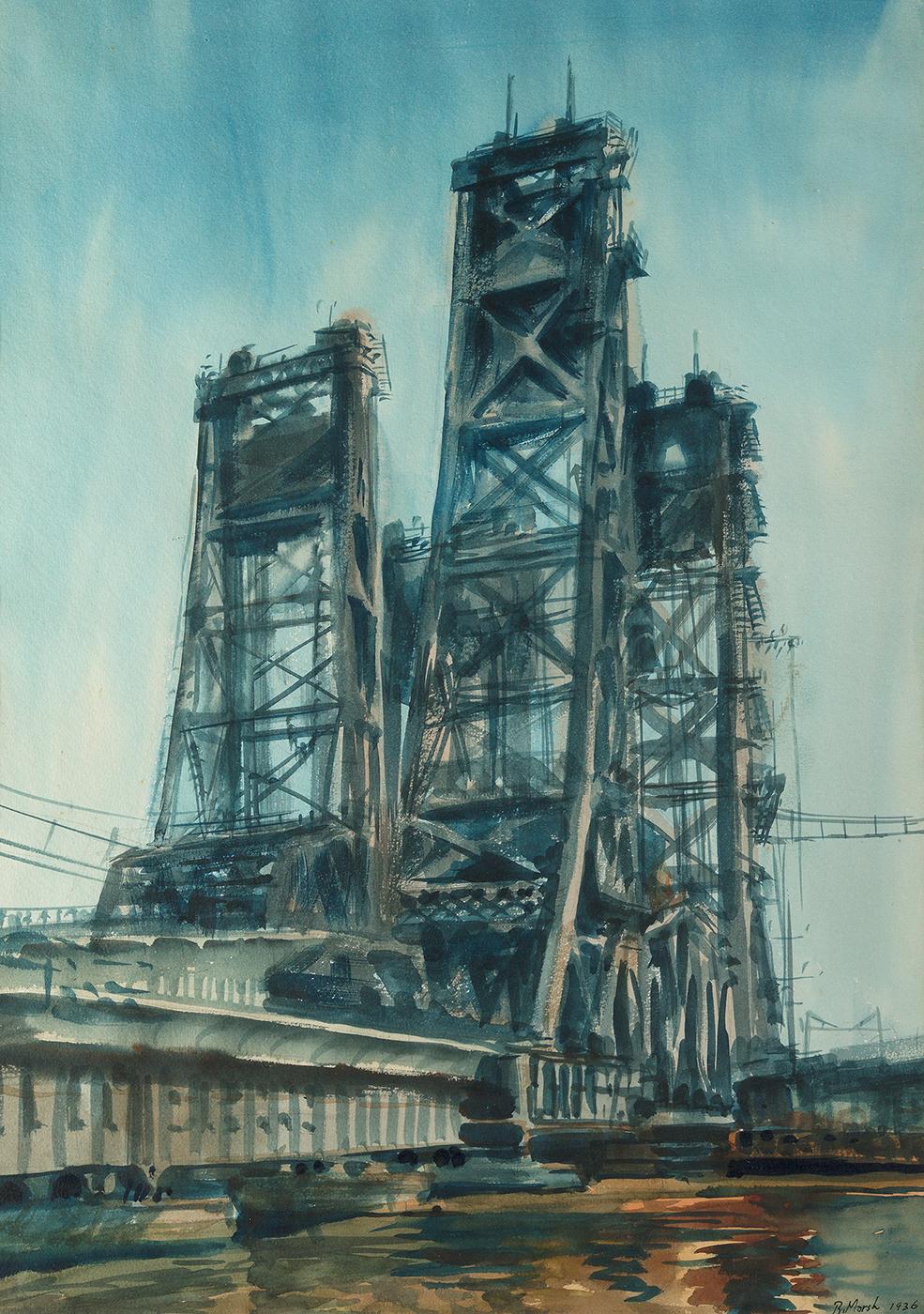 Lift Bridge, Jersey Marshes, 1936