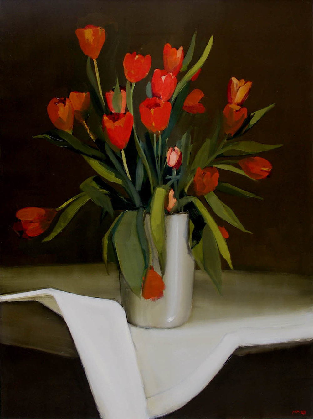 Red and Tangerine Tulips