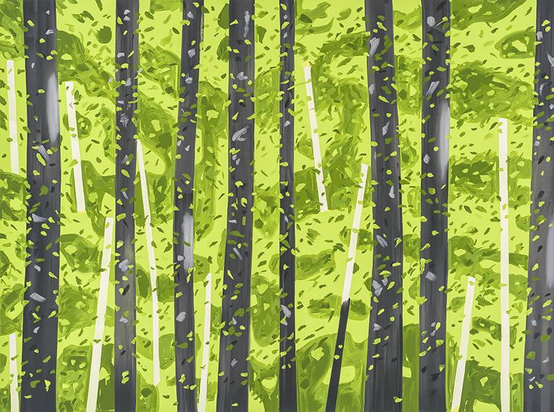 Alex Katz, 10:30am, silkscreen print, 55 x 74 inches