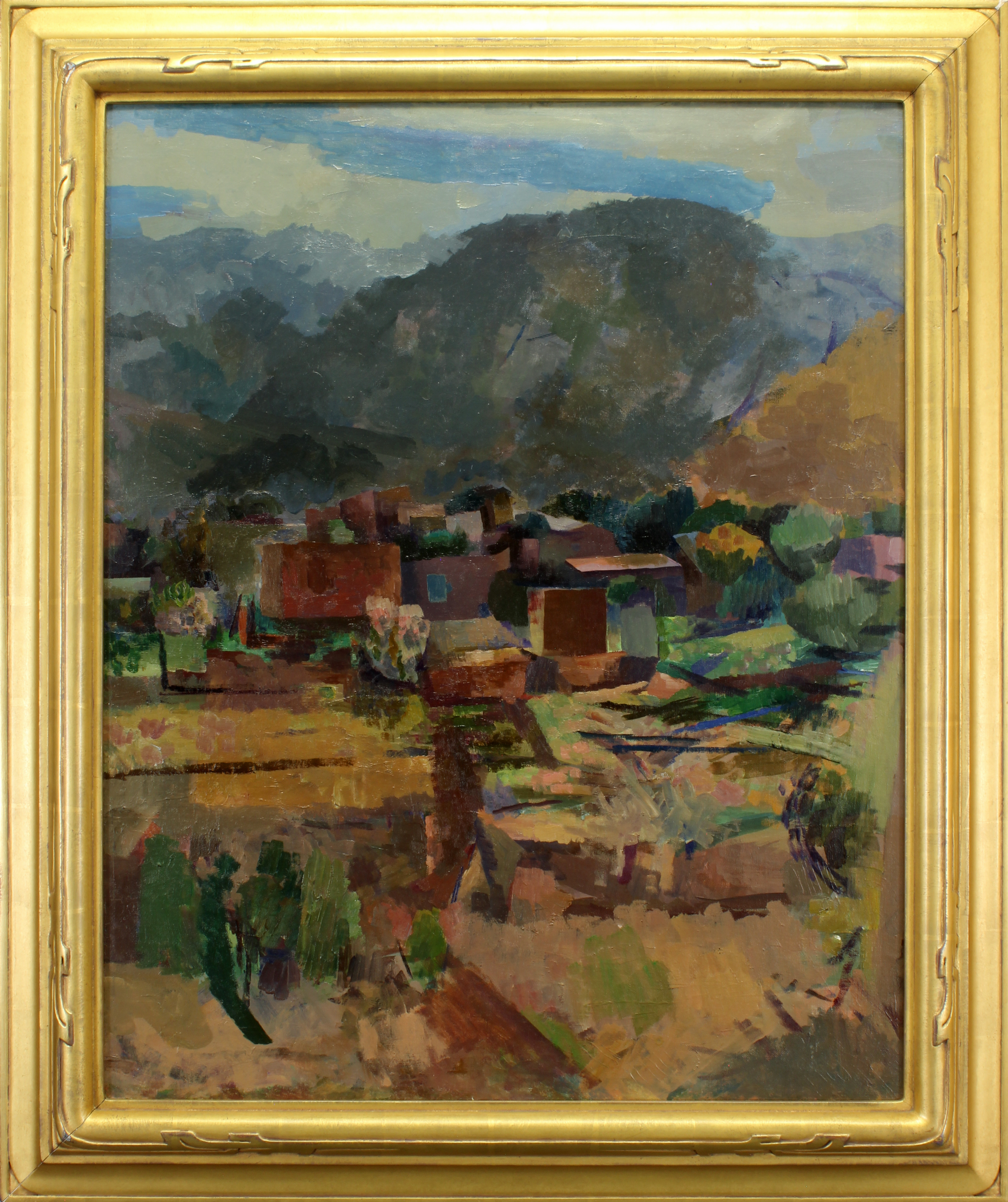View of Ranchos and Leg Study (double-sided work), 1927