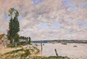 Eugene Boudin, La Seine à Mailleraye près de Quillebeuf, Normandie
