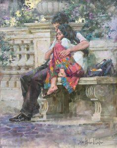 Carter-Couple in a Roman Garden-cropped