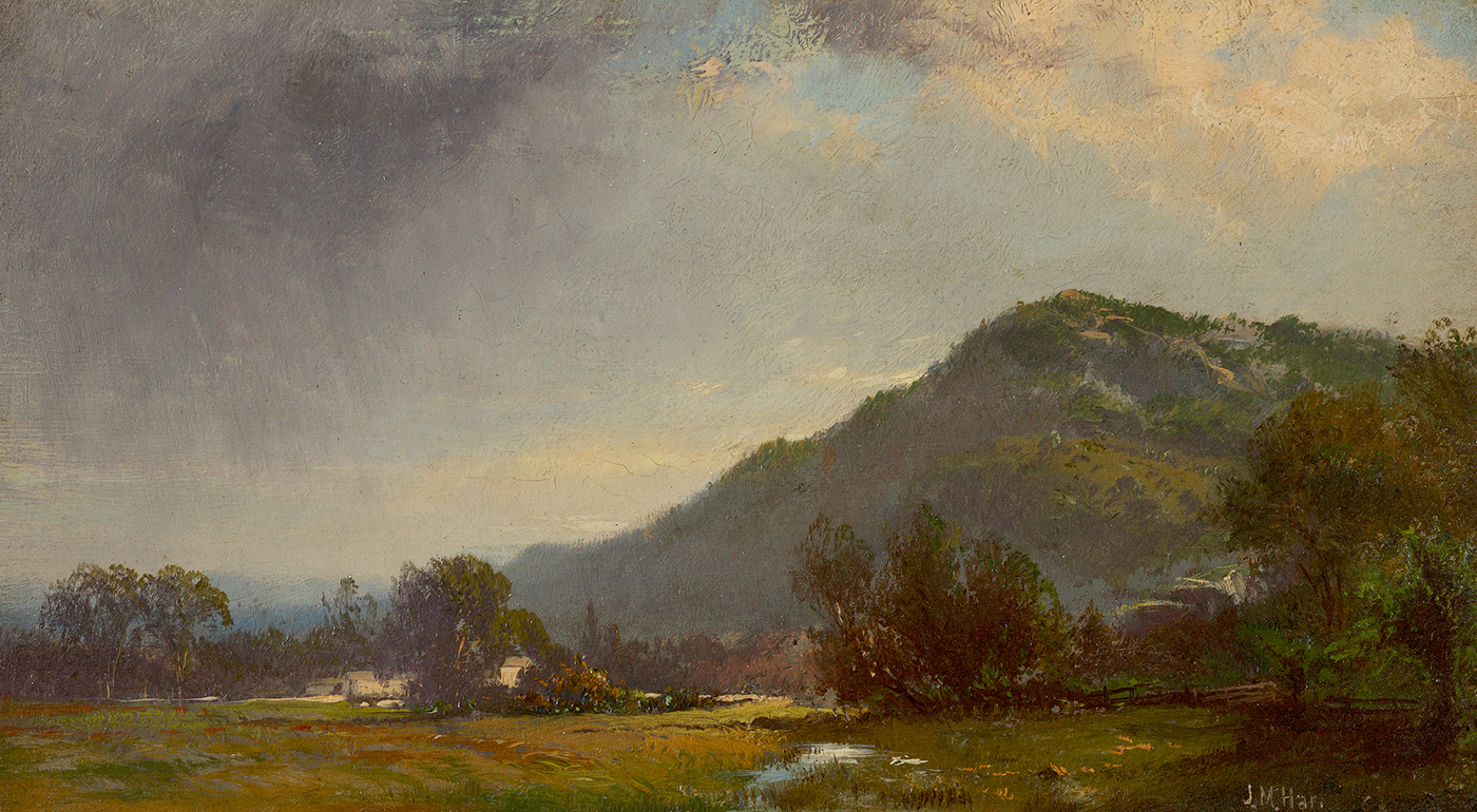 Mountain Scene with Gray Clouds, 1862