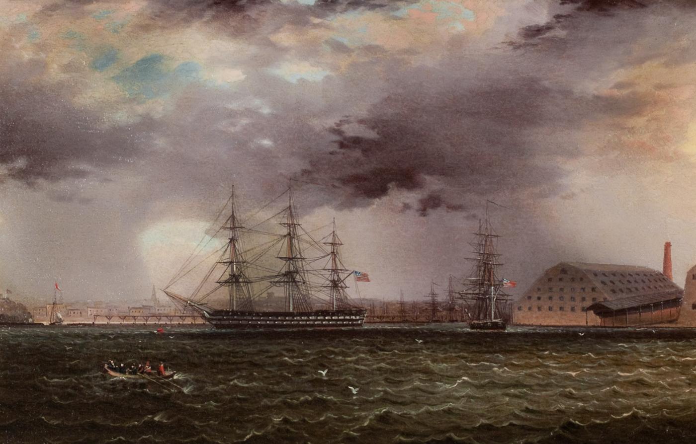 Old Brooklyn Navy Yard, East River, New York