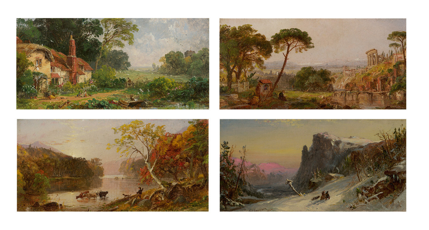 The Four Seasons: Spring in England, Summer in Italy, Autumn in America, Winter in Switzerland, 1859–1861