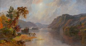 Cropsey-In the Narrows of Lake George, 1887