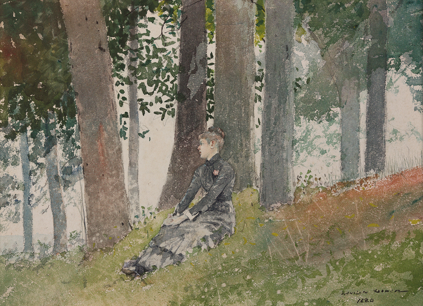 Girl Seated in a Grove, 1880