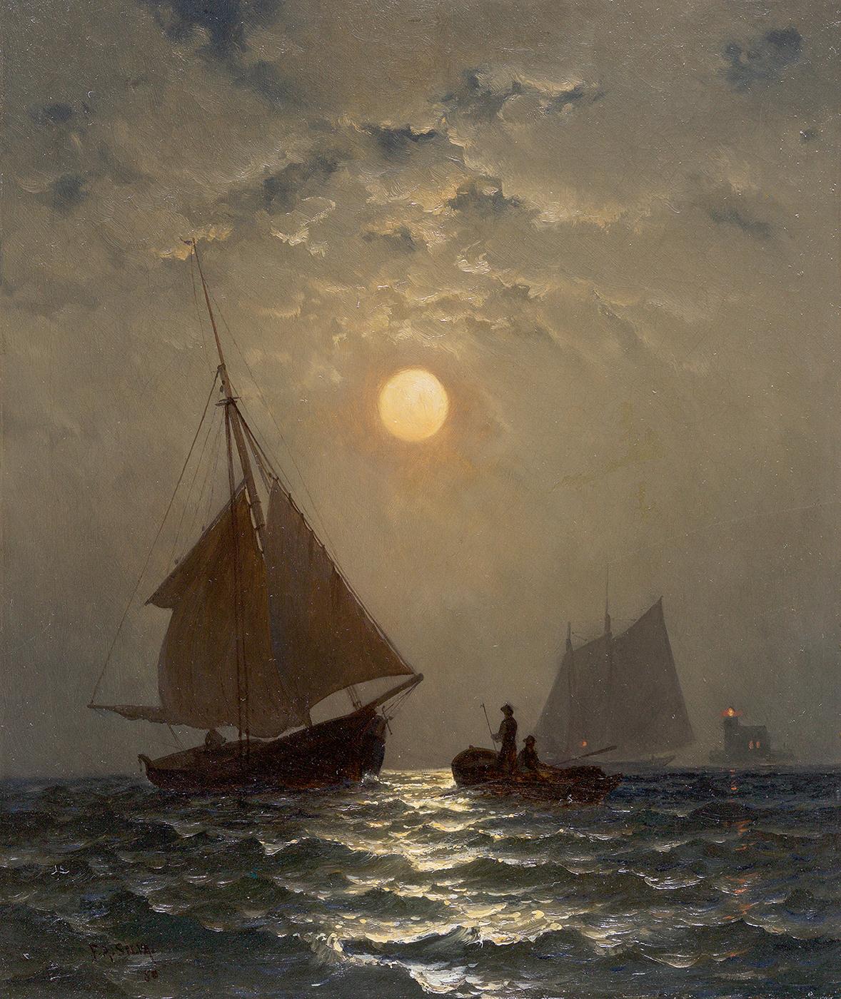 Moonlight Sail, 1880