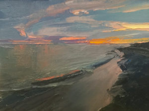 17-1215 Just After Sunset, Sanibel Sunset #10 9x12
