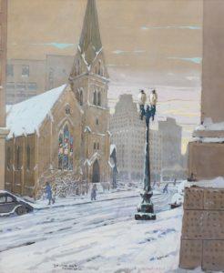 Zwara-Christ Church in Snow, Monument Circle-cropped