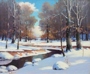 Draver-Winter in the Beeches-cropped