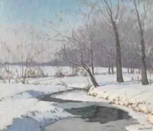 Mock-Creek in Winter-cropped