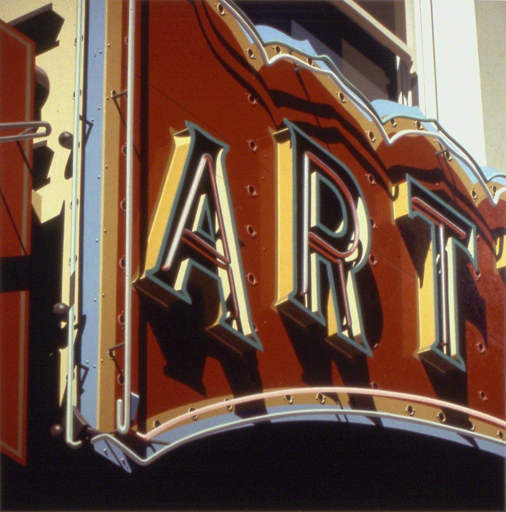 Robert Cottingham. Art, 1992. Lithography, 42 in. x 42 in.
