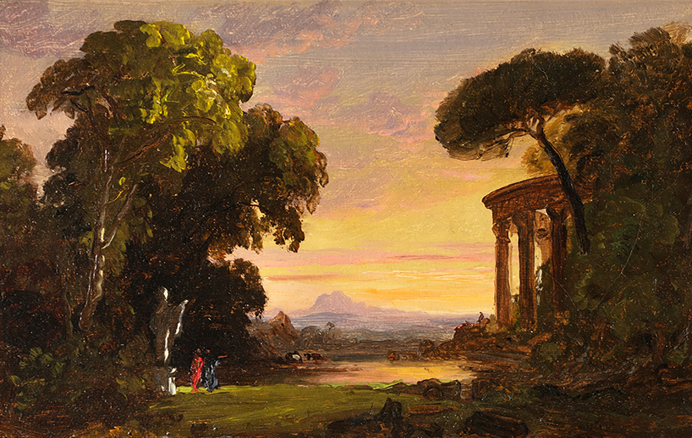 Cropsey-Ruins with Figures