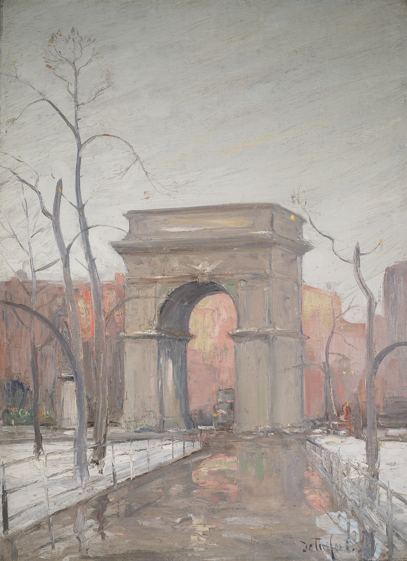 de Tirefort-Winter in Washington Square Park