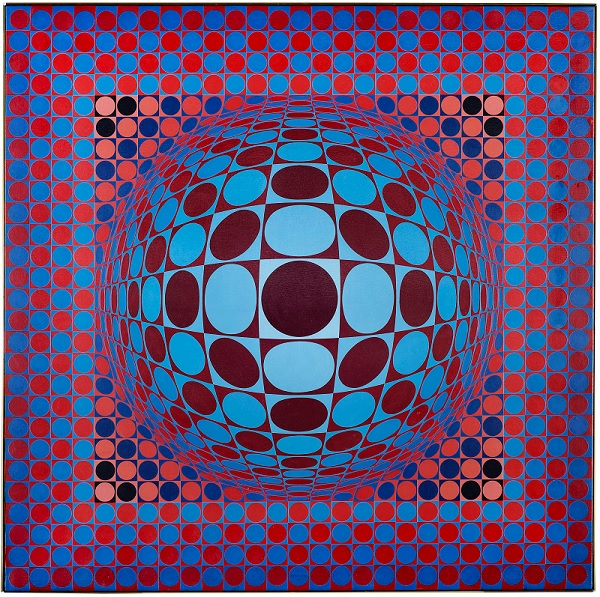 Victor Vasarely. Hang, 1977, oil on canvas, 110 x 110 cm, 43.3 x 43.3in