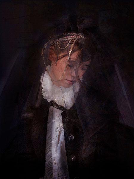 ASTRID NUMBER ONE, Portrait of Àstrid Bergès-Frisbey C-print by artist Simon Procter