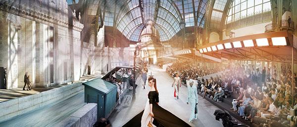 Chanel Basilica, Haute Couture Fall/Winter 2018, Le Grand Palais, Paris C-print by artist Simon Procter