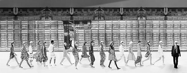 Chanel Machine BW, Spring Summer 2017, Le Grand Palais, Paris C-print by artist Simon Procter