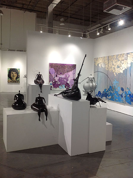 Abigail Varela sculptures on exhibit at Rosenbaum Contemporary in Boca Raton, Florida