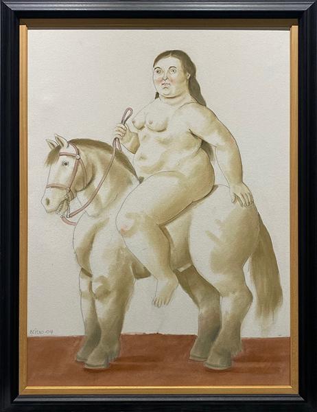 alt Woman on a horse