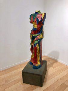 Jim Dine venus sculpture in colorful paint