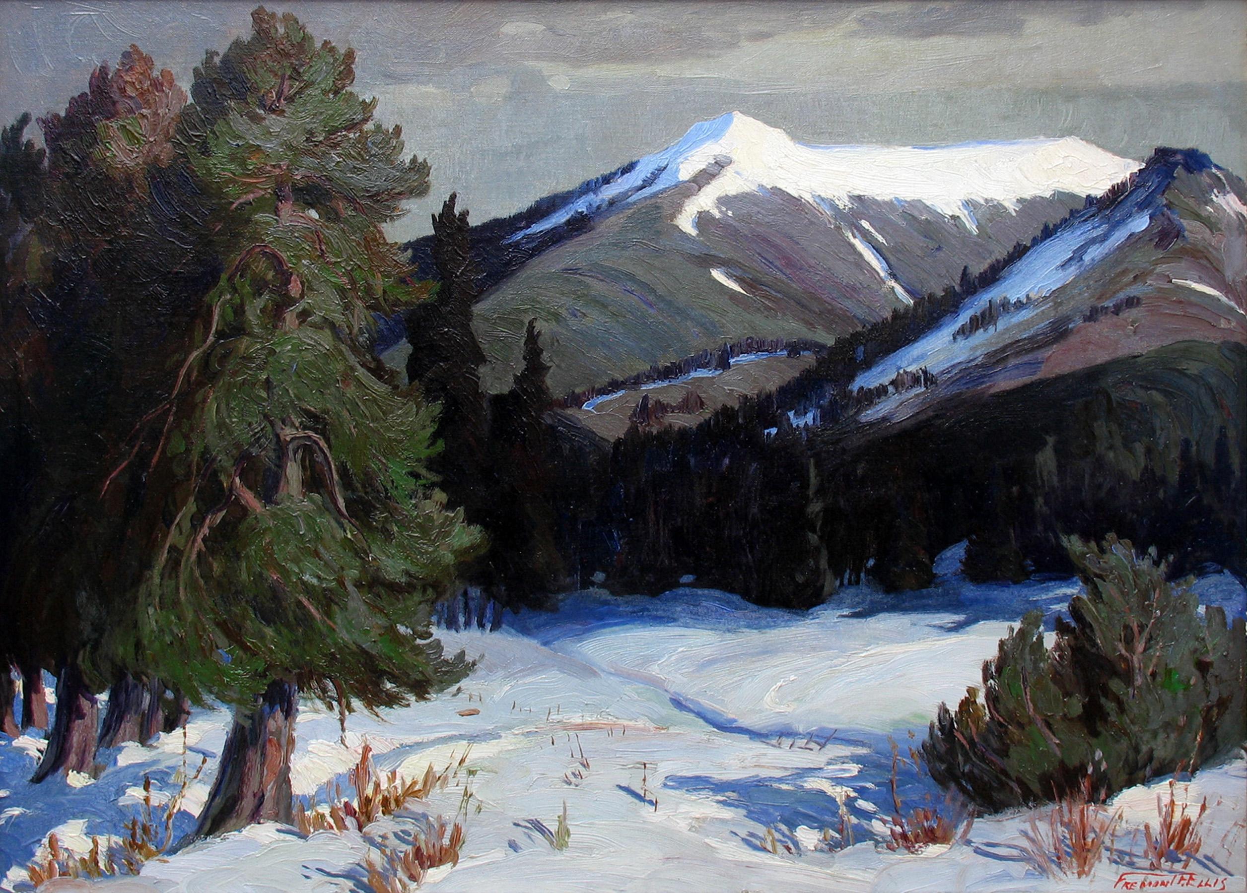 alt Winter Landscape Truchas